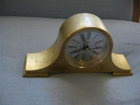 Bulova Japan Brass Desk Clock For Sale Antiques Com