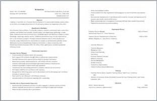 Resume Sles For Call Center by Call Center Resume Template Resume Builder