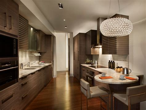 Horizontal Kitchen Cabinets Modern Galley Kitchen Contemporary Kitchen