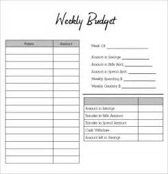 weekly budget planners find word templates