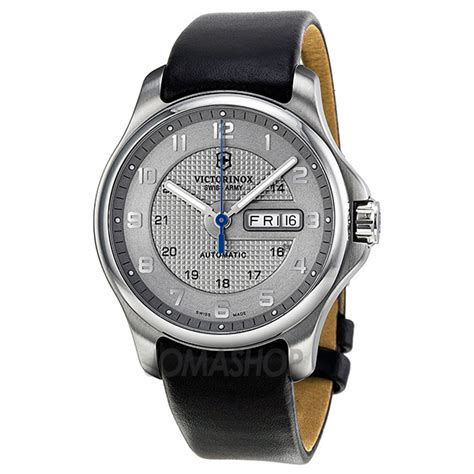 Victorinox Officer by Victorinox Officer S Day Date Automatic Grey S