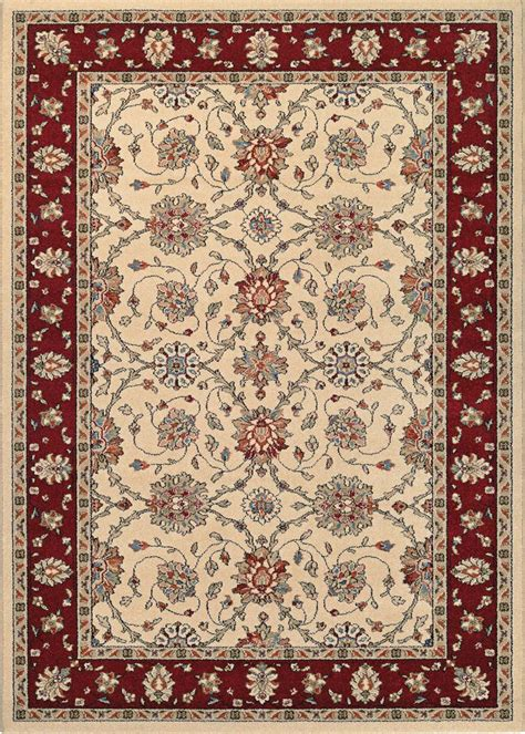 ruby rugs couristan traditions 9656 6515 halle ivory ruby rug