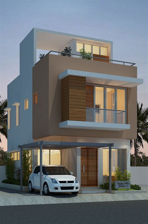 chennai modern house plan with front elevation headway fortune residency villa in perungalathur chennai