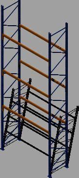 pallet rack  dwg model  autocad designs cad