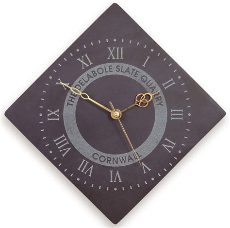diamond shaped roman numeral clock with logo large