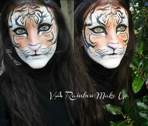 Tiger make up - Face painting - YouTube Realistic Tiger Makeup