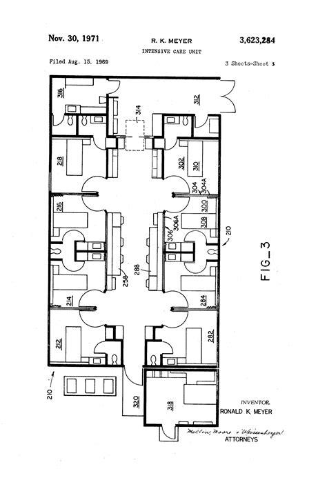layout unit crossword patent us3623284 intensive care unit google patents