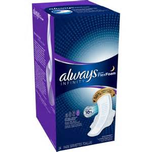 Always Infinity Pads Overnight Always Infinity Heavy Overnight Pads With Wings 24