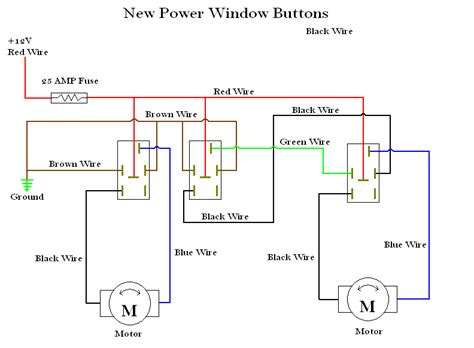 universal power window wiring diagram 37 wiring diagram