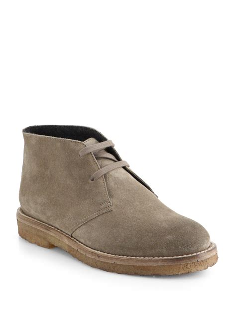vince shoes vince clay suede ankle boots in lyst