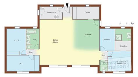 Formidable Couleur De Maison Interieur #7: Plan-maison-en-bois-vide-rdc-159.jpg
