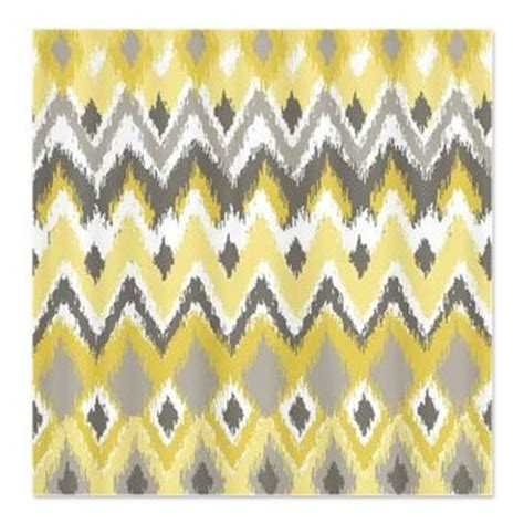 yellow and gray chevron shower curtain aztec tribal yellow gray chevron zi from cafepress things i