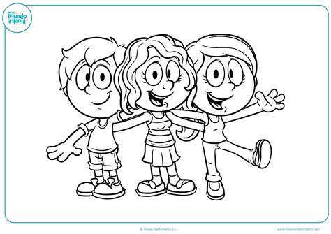 imagenes para colorear bebes dibujos de ni 241 os y ni 241 as para colorear mundo primaria