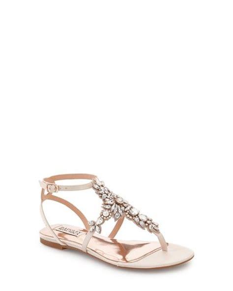 embellished flat sandals badgley mischka cara embellished flat sandal in