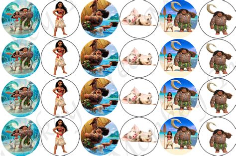 Sports Themed Cake Decorations - moana edible cupcake images set of 24 the monkey tree