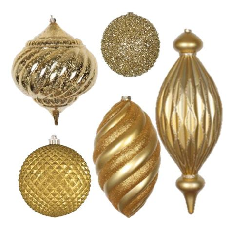 large gold christmas balls