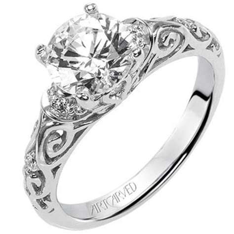 Filigrane Eheringe by Artcarved Quot Peyton Quot Engagement Ring Featuring