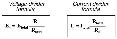 resistor voltage divider equation current divider circuits divider circuits and kirchhoff s laws electronics textbook
