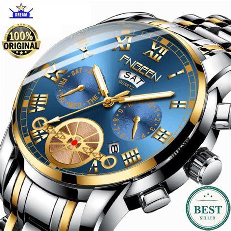 jam tangan pria fngeen  luxury full steel sport