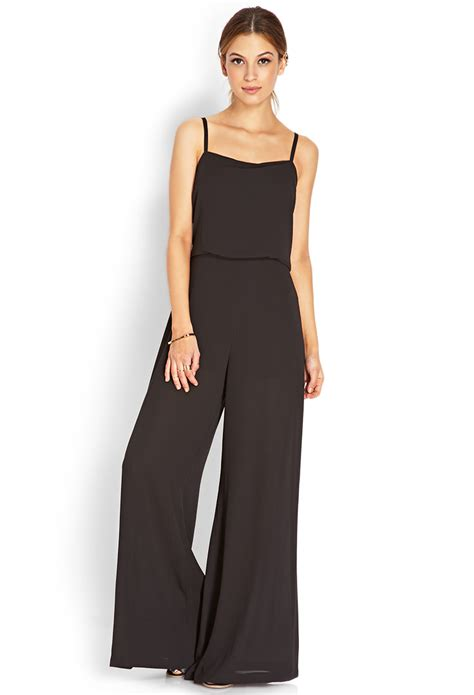 Jumpsuit Forever21 forever 21 musthave jumpsuit in black lyst