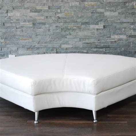curved leather bench white leather curved bench one piece only platinum