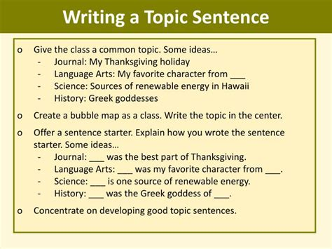 Essay Topic Classes by Ppt Writing Topic Sentences Mini Lesson Powerpoint Presentation Id 765349