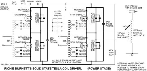 How To Build A Solid State Tesla Coil Solid State Tesla Coil Project Tl494 Pwm High Voltage