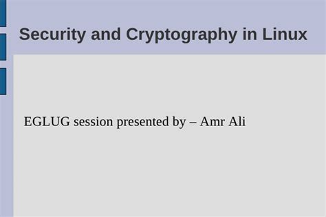 security cryptography in linux