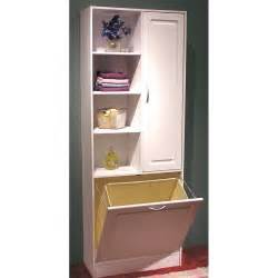 Tall Bathroom Linen Cabinet Linen Cabinet W Laundry Hamper Bathroom Vanity Cabinet