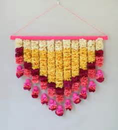 How To Make Wall Hangings With Paper - crepe paper petals wall hanging