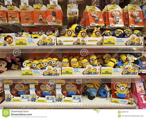 the toys minions in the toys area of an supermarket in bucharest