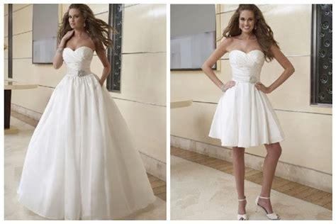 2 in 1 wedding dresses custom made make a change