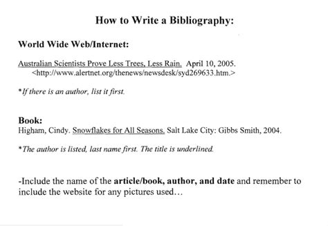 how to write a bibliography page for a research paper inquiry 56cclassroomblog page 2