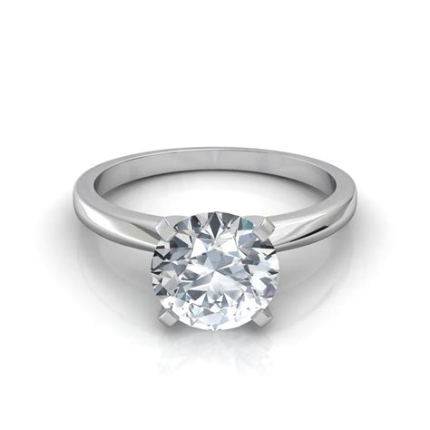 Classic Engagement Rings by Classic 4 Prong Solitaire Engagement Ring