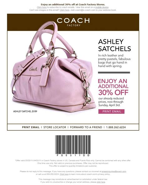 couch outlet coupon printable coach factory coupon 30 off free printable