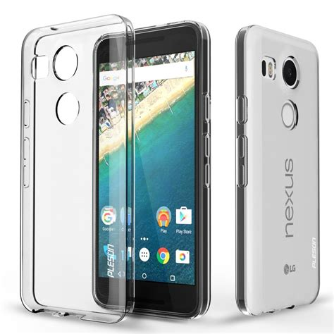 Lg Nexus 5x 2015 Bumper Soft Cover Rugged Armor Casing Bagus nexus 5x pleson lg nexus 5x clear cover clear dotted slim fit lightweight