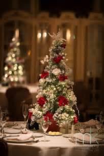 Christmas wedding reception centerpiece tree