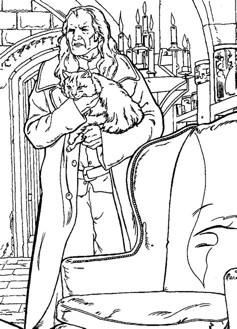 N Coloring Page Harry Potter And The