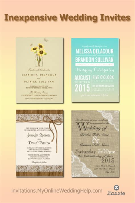 Inexpensive Modern Wedding Invitations by Inexpensive Wedding Invitations
