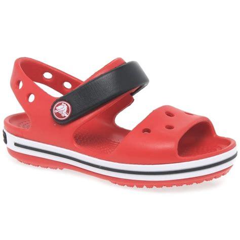 crocs childrens sandals crocs crocband sandal boy s sporty sandals charles clinkard
