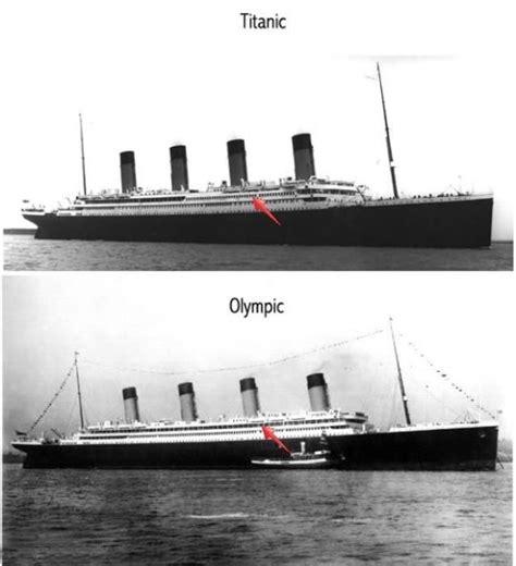 titanic vs boat rms titanic vs rms olympic titanic pinterest rms