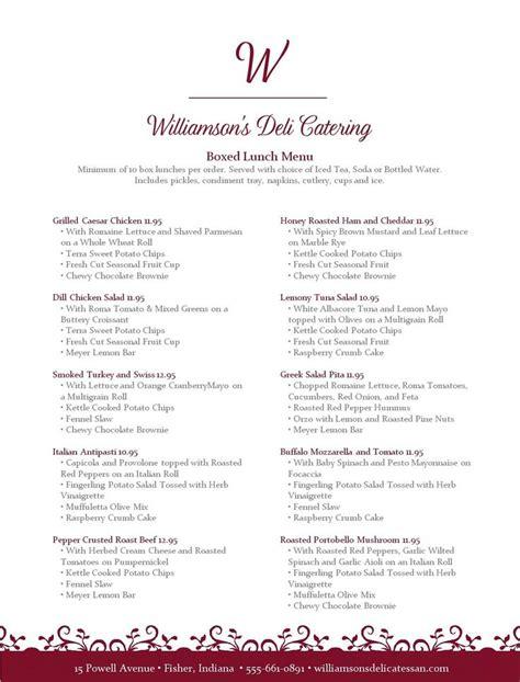 menu design generator 14 best catering menus images on pinterest birthdays