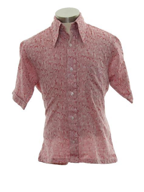 Leaf Dusty Blouse retro 70s shirt montgomery ward 70s montgomery ward mens dusty background polyester