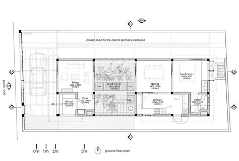 house plans with atrium a gorgeous home split by a covered garden atrium