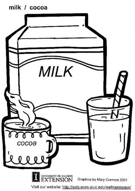 dibujos de bebidas para colorear dibujo para colorear leche img 5865