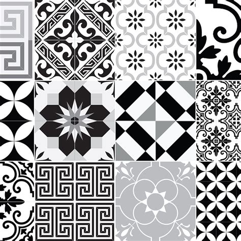 black and white pattern vinyl buy beija flor eclectic vinyl floor mat black white