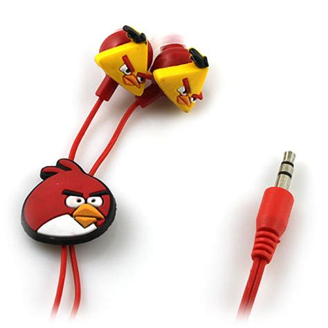 Headset Earphone Headphone Angry Bird An 40 angry birds headphones earphone headset 3 5mm mp3 e23 ebay