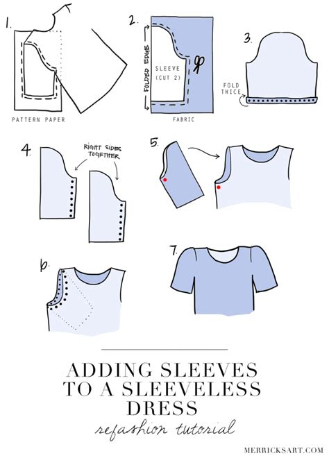 735 No Arm Dress With Ribbon At Chest merrick s style sewing for the everyday girldiy friday adding sleeves to a sleeveless
