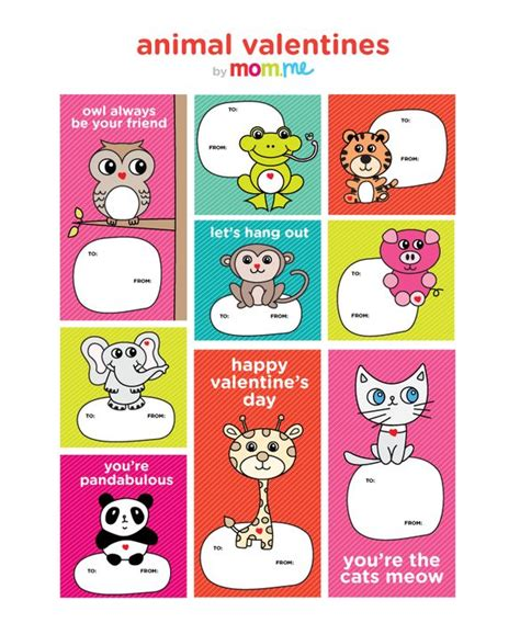 animal valentines 11 best images about valentines on printable