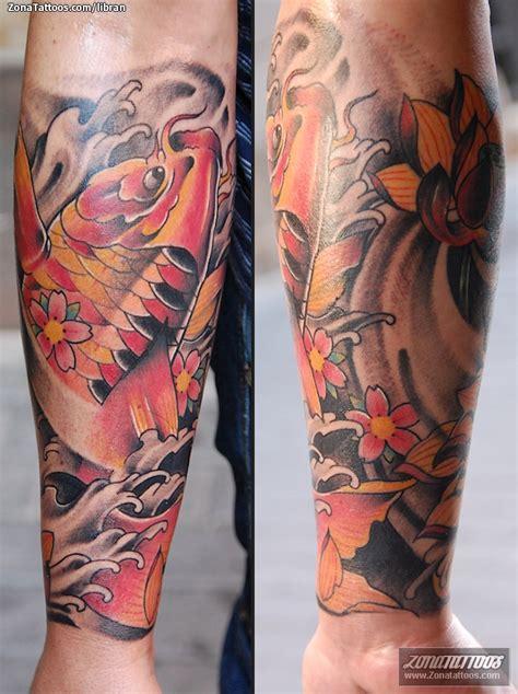 Tattoo Oriental Antebrazo | tatuaje de orientales lotos koi